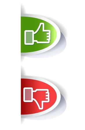 approve icon: thump up and down hand tags