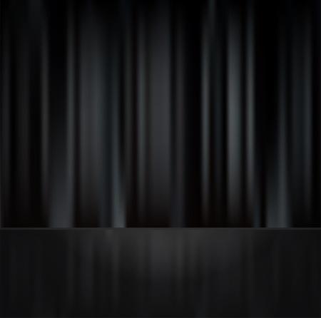 Black Curtain Texture black curtain with raflection on floor royalty free cliparts
