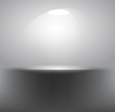 Gray empty shelf with projector Vector
