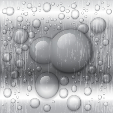 aluminium wallpaper: water drops on lime green background