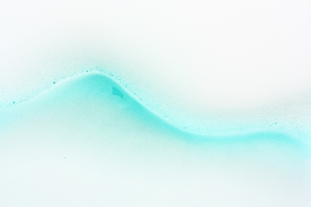 Blue water wave abstract background with soap bubbles  photo