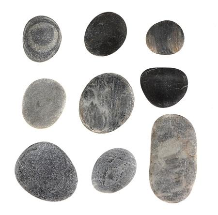 piedras zen: Piedras aisladas en blanco Foto de archivo