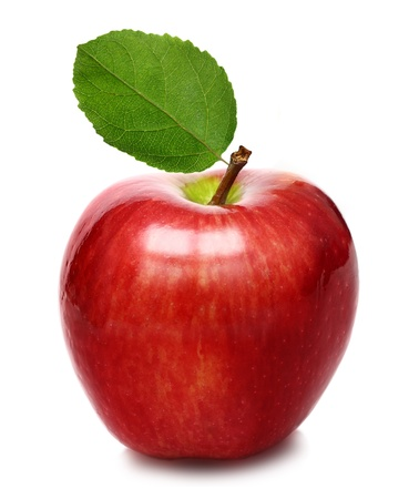 green apple: Red apple isolated