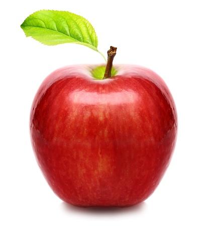 Manzana roja aislada