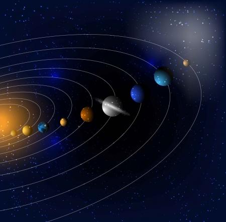 Stars and Parade der Planeten EPS 10 Vektor-Illustration