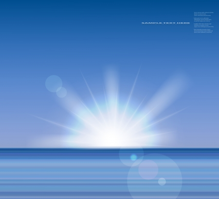 Vector sea background with sunrise Stock Vector - 17329229