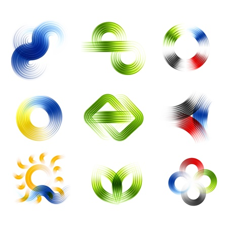 Different abstract logos and elements for design icon set Stock Vector - 17330875
