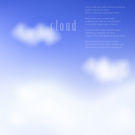 illustration of clouds on a blue sky. Gradient mesh used. Stock Vector - 17558776