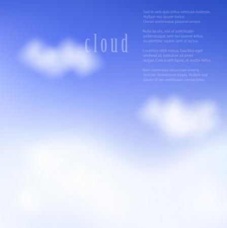 moody sky: Illustrazione delle nubi su un cielo blu. Gradiente maglie utilizzate.