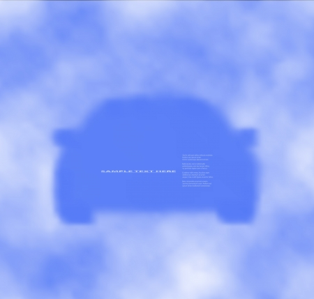 Silhouette of car  on cloudy blue sky.  illustration, texture on a separate layer. Stock Vector - 17558896
