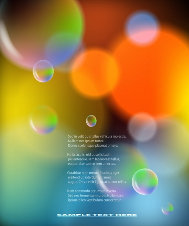 Abstract colorful background with bubbles illustration  Vector