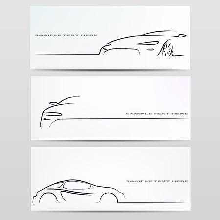 coche: Silueta de ilustración vectorial coche Vectores