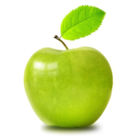 Green apple isolated Stock Photo