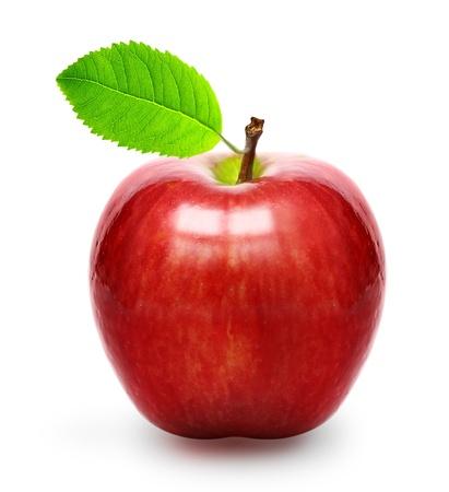 分離された赤いリンゴ 写真素材