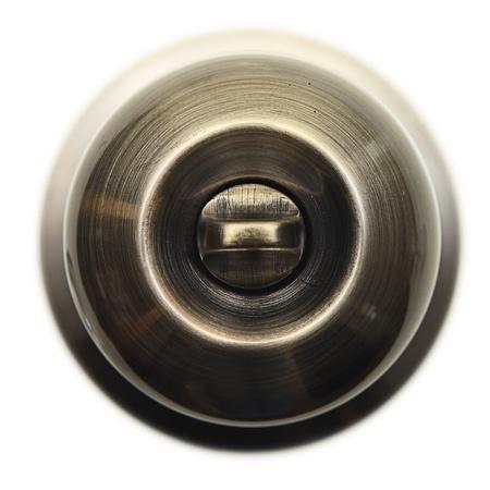 Metall brass door handle. Stock Photo - 18084433