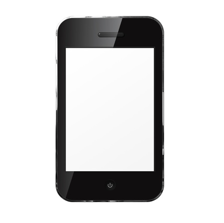 Mobile phone iphon style  isolated on white background. Stock Photo - 18084391