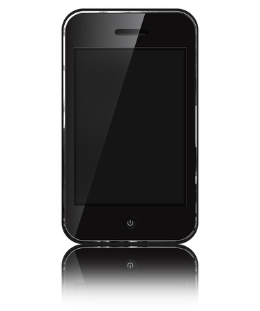 iphon: Mobile phone iphon style  isolated on white background.