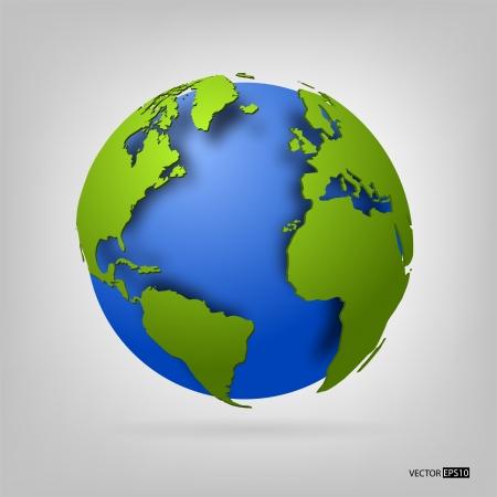 3d globe of the world  EPS10 vector illustration Stock Vector - 18366068