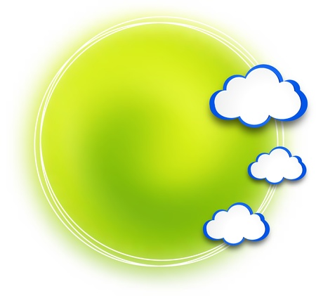 Abstract web design background with clouds illustration. Stock Vector - 19165818
