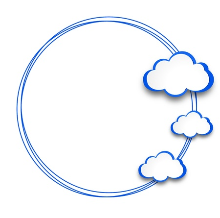 web design background: Abstract web design background with clouds. Illustration