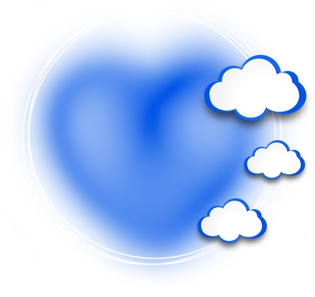 Abstract web design background with clouds illustration. Stock Vector - 19165817