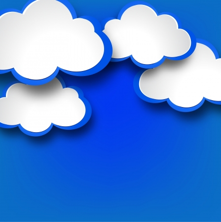 Abstract web design background with clouds illustration. Vector