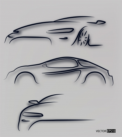 Silhouette of car illustration Vector