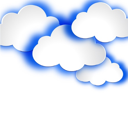 Abstract web design background with clouds illustration. Stock Vector - 19165878