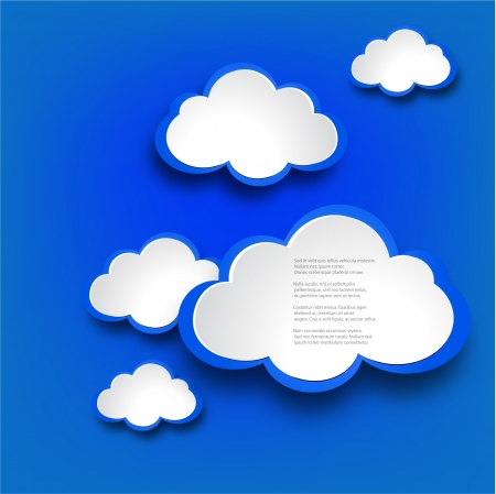 web design background: Abstract web design background with clouds illustration.