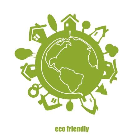Vector eco green planet  Vector