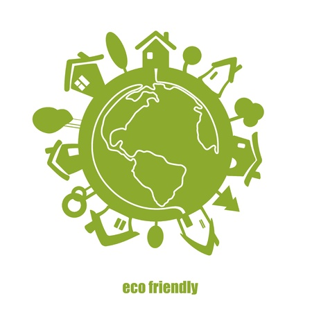 eco green: Vector eco green planet  Illustration