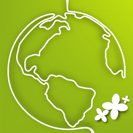 Vector eco green planet  Stock Vector - 19373465