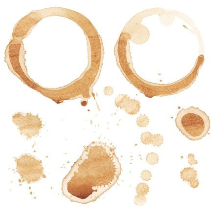 coffee stain: Coffee stain on white background  Illustration