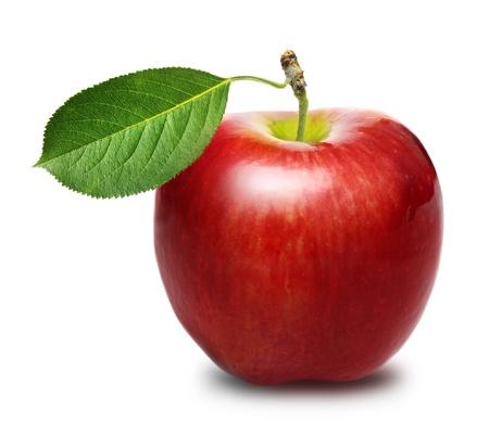 Roter Apfel isoliert