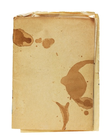 coffee stain: Vintage old paper background with coffee stain