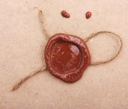 Blank paper with wax seal Stock Photo - 20138716