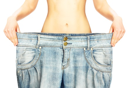 Woman belly isolated on white background. Stock Photo - 20584927