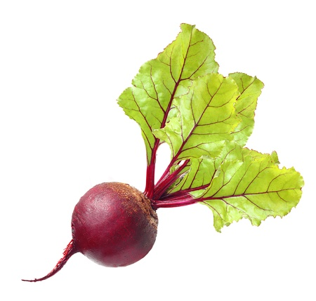 beet: Beetroot with leaves isolated on white