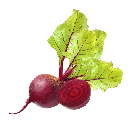 Beetroot with leaves isolated on white Banco de Imagens - 21219748