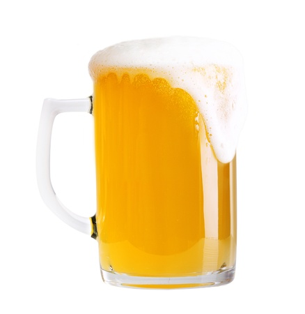 Glass of beer isolated on white background Stock Photo - 22075533