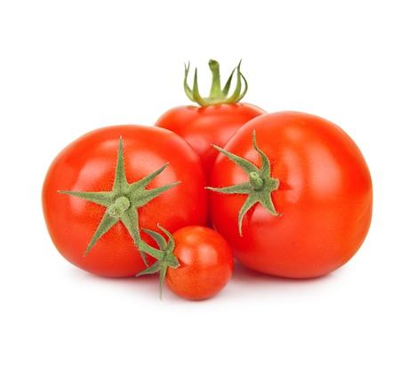 tomatos: Red tomatos isolated on white background. Stock Photo