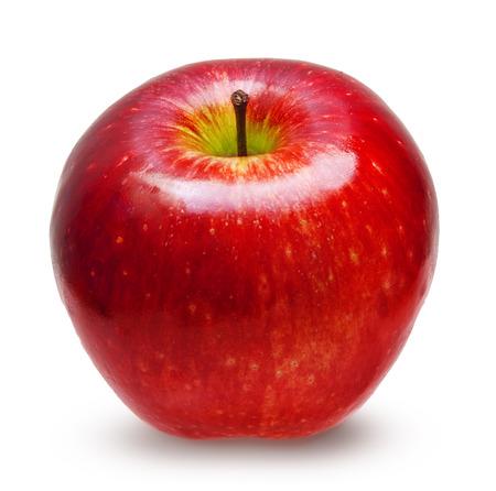 Manzana roja aislada Foto de archivo - 24292295
