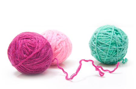 weave ball: Balls of yarn for knitting isolated