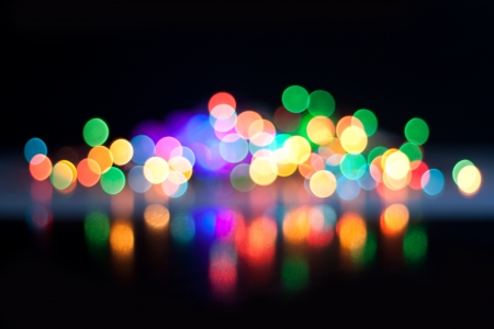 Abstract bokeh, magic colorful blurred background. Stock Photo