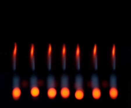 Abstract bokeh candles , magic colorful blurred background. photo