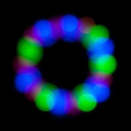 Abstract circle bokeh, magic colorful blurred background. photo
