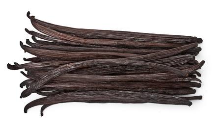 bean pod: Vanilla pods isolated on white background