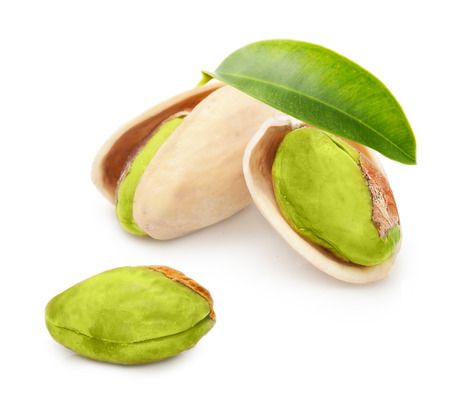 Pistachio nuts isolated on white background Stock Photo