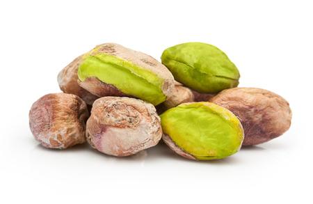 Pistachio nuts isolated on white background Banco de Imagens