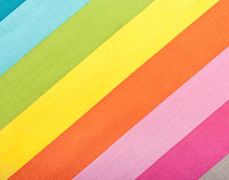 diagonal stripes: Colorful diagonal stripes fabric texture for background Stock Photo